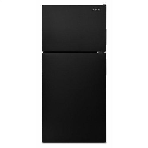30-inch Wide Top-Freezer Refrigerator with Garden Fresh Crisper Bins - 18 cu. ft. - Black