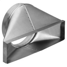 "10"" Round Horizontal Transition for Range Hoods and Bath Ventilation Fans"