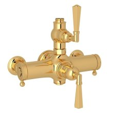 Italian Brass Palladian Exposed Thermostatic Valve with Metal Lever