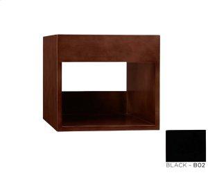 "Catalina 15"" Wood Shelf Bridge in Black Product Image"