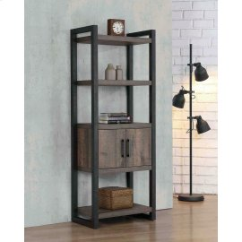 Luke Weathered Oak Bookcase