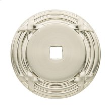 Satin Nickel Round Edinburgh Back Plate