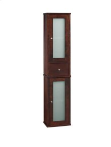 "Tall 55"" Bathroom Wall Cabinet in Vintage Walnut"