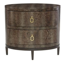 Jet Set Oval Nightstand in Caviar (356)