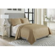 3pc Queen Bed Throw Set Gold Product Image