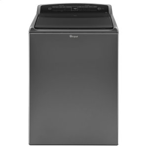 4.8 cu.ft HE Top Load Washer with Built-In Water Faucet, Intuitive Touch Controls - CHROME SHADOW