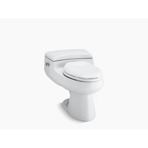 Ice Grey Comfort Height One-piece Elongated 1.0 Gpf Toilet With Pressure Lite Flushing Technology and Left-hand Trip Lever