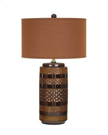 Ceramic Table Lamp (2/CN) Shadeena - Brown Collection Ashley at Aztec Distribution Center Houston Texas