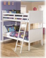 Lulu - White Collection: Twin Bunkbed