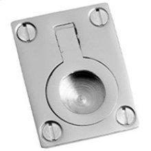 """Polished Nickel Flush ring, 1 1/8"""" x 1 1/2"""""""