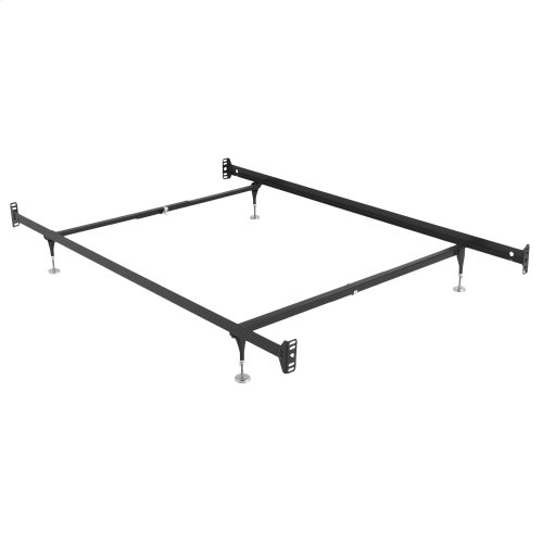 Fashion Bed Rails Brass Bed Frame System 1004 with Bolt-On Headboard Brackets and (4) Adjustable Leg Glides, Twin - Full