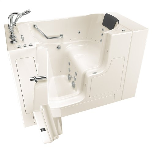Gelcoat Premium Series 30x52 Walk-in Bathtub with Combination Massage and Outward Facing Door, Left Drain  American Standard - Linen