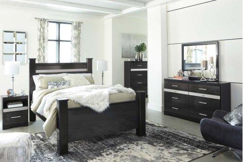 Starberry - Black 3 Piece Bed Set (Queen)