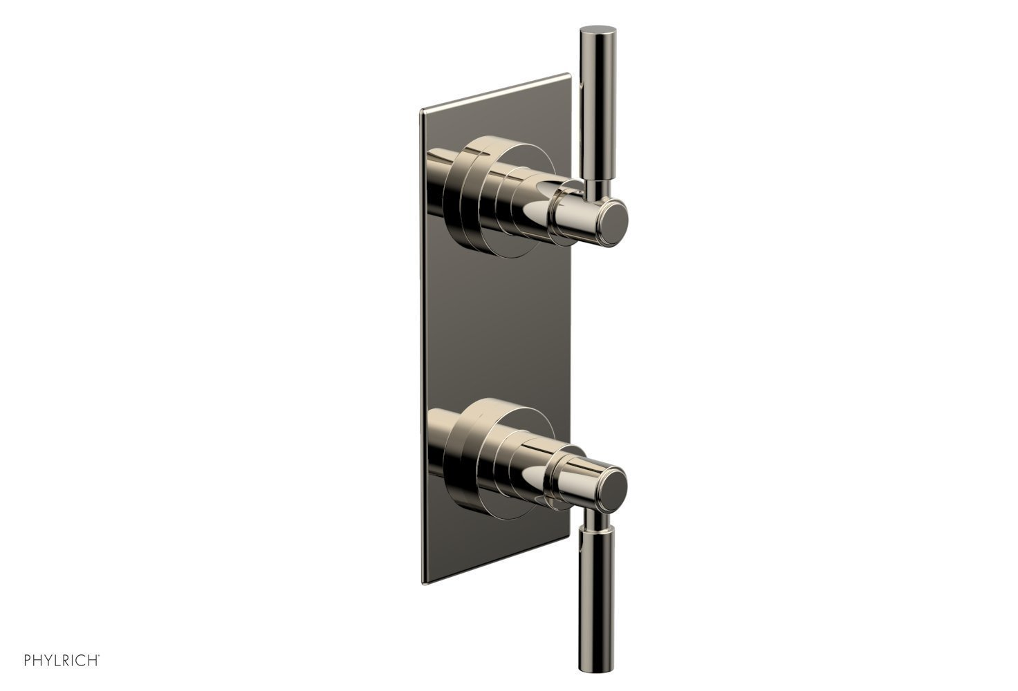 """BASIC 1/2"""" Thermostatic Valve with Volume Control or Diverter Lever Handles 4-344 - Polished Nickel"""