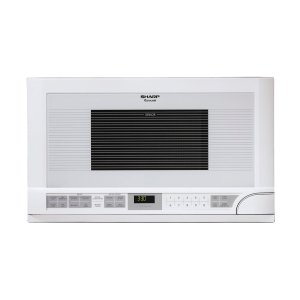 Sharp1.5 cu. ft. 1100W Sharp White Over-the-Counter Carousel Microwave Oven