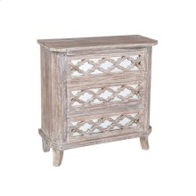 Lattice 3 Drawer Chest