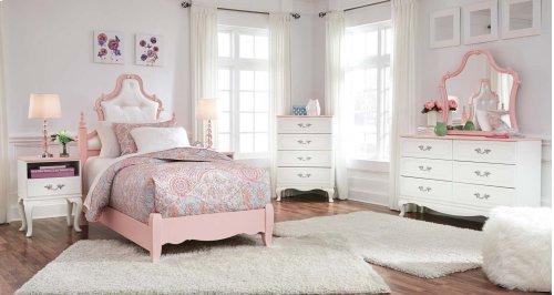Laddi - White/Pink 2 Piece Bed Set (Twin)