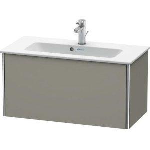 Vanity Unit Wall-mounted Compact, Stone Gray Satin Matt Lacquer
