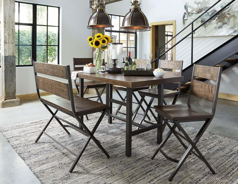 Kavara   Medium Brown 7 Piece Dining Room Set