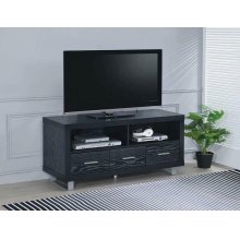 Contemporary Black Oak TV Console
