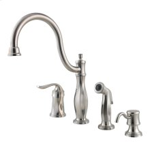 Stainless Steel 1-Handle Kitchen Faucet