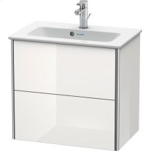 Vanity Unit Wall-mounted Compact, White High Gloss Lacquer