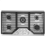 """GE ProfileGE PROFILE(TM) 36"""" Built-In Tri-Ring Gas Cooktop with 5 Burners and Extra-Large Integrated Griddle"""