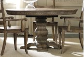 "Dining Room Sorella Pedestal Dining Table w/1-20"" leaf"