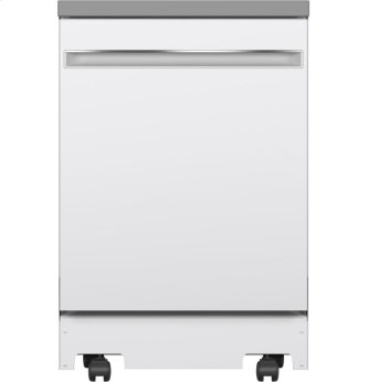 "GE™ 24"" Stainless Steel Interior Portable Dishwasher with Sanitize Cycle"