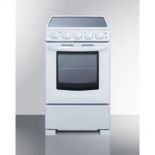 "20"" Wide Slide-in Look Smooth-top Electric Range In White With Oven Window; Replaces Rex205w/rt"