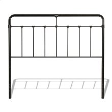 Fairfield Metal Headboard Panel with Spindles and Intricate Castings, Dark Roast Finish, King