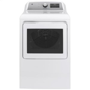 GE®7.4 cu. ft. Capacity Smart aluminized alloy drum Electric Dryer with Sanitize Cycle and Sensor Dry