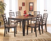 Alonzo - Two-tone Brown Dining Table and 6 Chairs Product Image