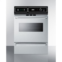 "Stainless Steel 220v Electric Wall Oven With Digital Clock/timer and Oven Window; for Cutouts 22 3/8"" Wide By 34 1/8"" High"