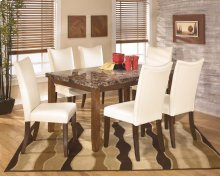 Lacey - Medium Brown 7 Piece Dining Room Set