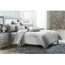 7pc Queen Comforter Set Silver Product Image
