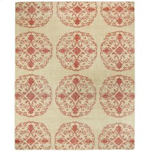 Vintage-Mandala Red Hand Knotted Rugs