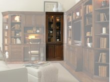 """Home Office Cherry Creek 32"""" Wall Curio Cabinet"""