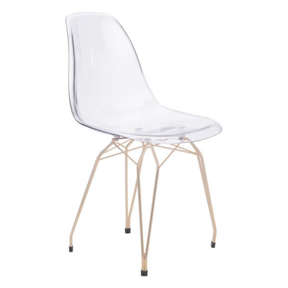 Shadow Dining Chair Clear & Gold