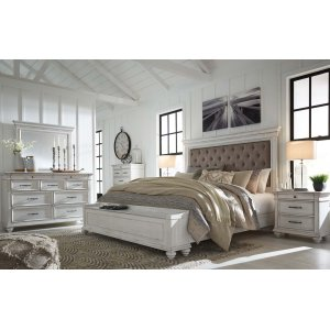 Ashley Furniture Kanwyn - Whitewash 5 Piece Bedroom Set
