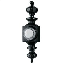 Lighted Dimensional Pushbutton, 1-1/8w x 4-3/16h in Black