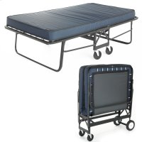 """Rollaway 1290P Folding Cot and 30"""" Anti-Bacterial Fiber Mattress with Angle Steel Frame and Poly Deck Sleeping Surface, 29"""" x 75"""" Product Image"""