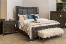 Hill Cal King Bed Gray