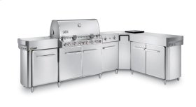 SUMMIT® GRILL CENTER WITH SOCIAL AREA (RIGHT-HAND) NATURAL GAS - STAINLESS STEEL