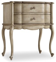Bedroom Sanctuary Two Drawer Leg Nightstand-Pearl Essence
