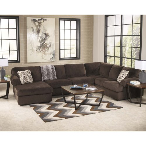 Jessa Place - Chocolate 3 Piece Sectional