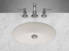 Oval Ceramic Undermount Bathroom Sink in Biscuit