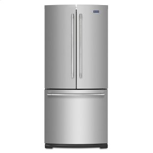 Maytag19.6 cu ft French Door Refrigerator with Strongbox Door Bins Fingerprint Resistant Stainless Steel