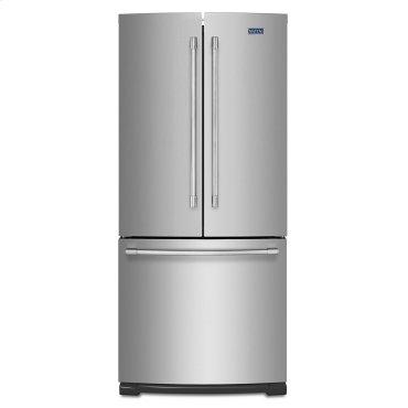 19.6 cu ft French Door Refrigerator with Strongbox Door Bins Fingerprint Resistant Stainless Steel