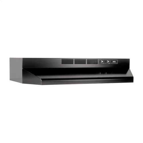 30-Inch Ductless Under Cabinet Range Hood with Light in Black with EZ1 installation system